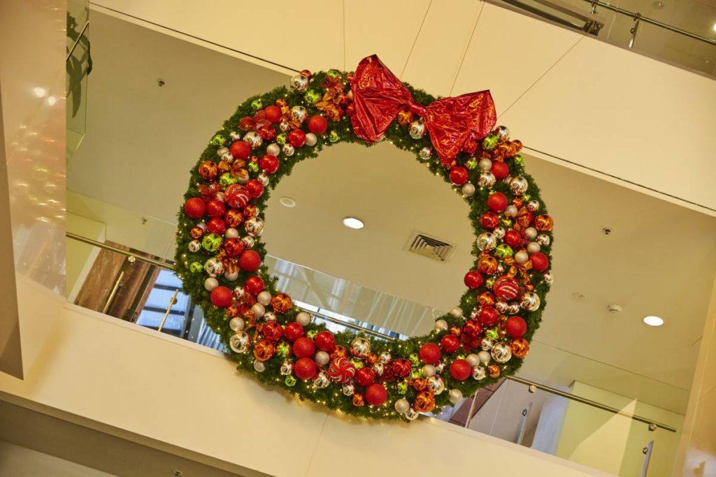 Interior christmas wreath