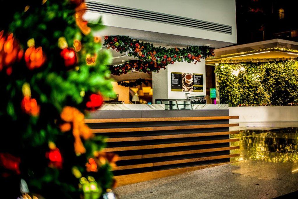 Corporate building Christmas